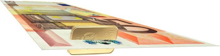 Euro met Goudcomponent
